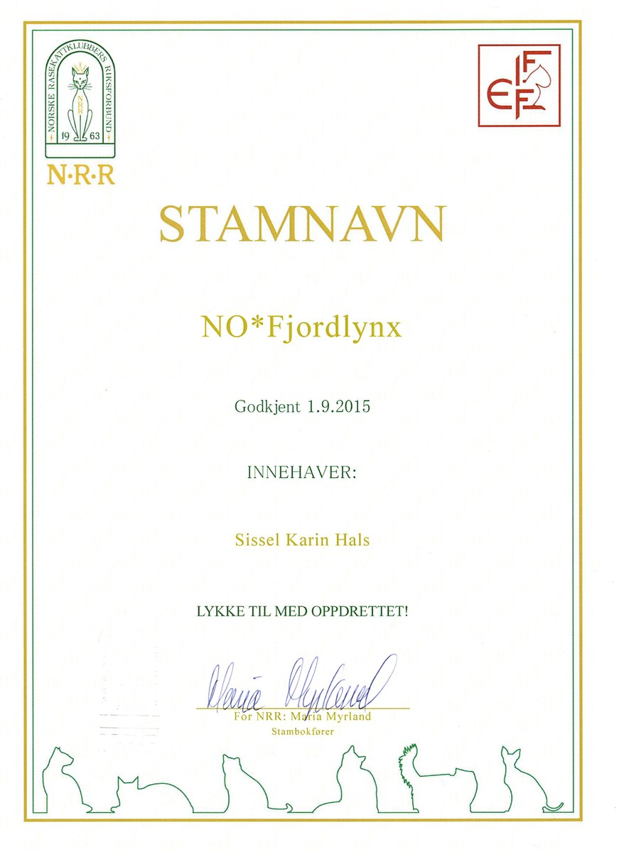 Stamnamn NO*Fjordlynx